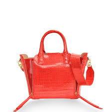 gobelini maggy satchel s bag croco metalic orange