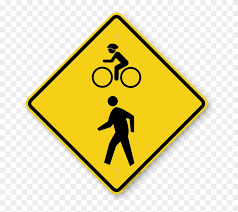 Arroyo Seco Pedestrian And Bicycle Trail Ground Breaking - Bike And Pedestrian Sign Clipart (#2146825) - PinClipart