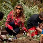 Melania holds first event in garden planted by Michelle Obama