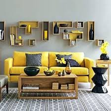 grey colour combination yellow and gray living room designs in a simple colour scheme grey red