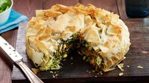 feta and vegetable pie image