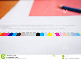 Printing Colour Chart Colour Chart On Digital Printing Offset Industry Stock Photo