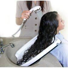 hair washing station.  Station NEW Salon Hair Washing Sink Tray Shampoo Wash Station Rinse Bath Drain Neck  Rest For
