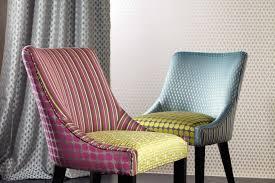 custom upholstered dining chairs art deco inspired shape