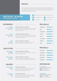 Download Premium Modern Resume Cv Template