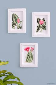 3d photo frames from paper cute diy idea for your walls or use them