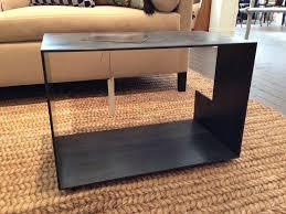 Coffee End Tables Custom Made Szk Metals Modern Minimalist Metal End Table Coffee
