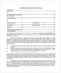 Roofing Contract Template Roofing Contract Template Cycling Studio