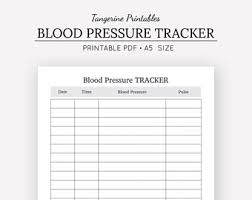 blood pressure readings log blood pressure log etsy