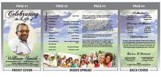 How To Make A Funeral Program This Funeral Program Uses A Green Field Background With
