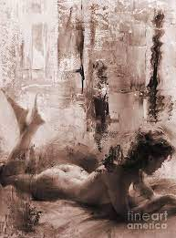 Naked Woman Art Bbv4a Painting By Gull G