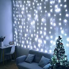 silver white cotton ball string lights
