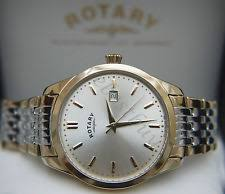 mens rotary watch two tone rotary mens swiss watch two tone champagne dial lightweight waterproof rrp £160