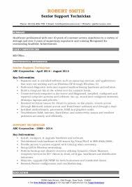 computer support technician resume support technician resume samples qwikresume