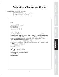 Letter Employment Verification Letter Template