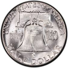 1959 Franklin Half Dollar Value Chart 1955 Franklin Half Dollar Values And Prices Past Sales