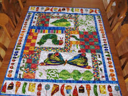 17 Best images about hungry caterpillar quilt on Pinterest | Shops ... & Very Hungry Caterpillar - Eric Carle - Crib Quilt Adamdwight.com