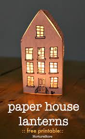 Beautiful And Easy Paper House Lantern Free Printable Nurturestore