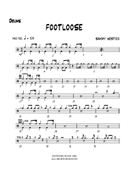 drums sheet music footloose drums sheet music music for piano and more