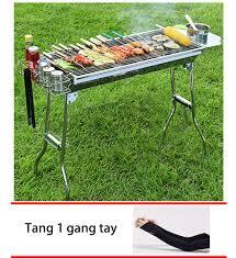 Bảng giá Bếp nướng than hoa gấp gọn ngoài trời cao cấp BBQ L5-129H +Tặng 1  găng tay chống nắng