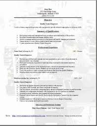 Resume Objective Examples Quality Assurance Resume Ixiplay Free