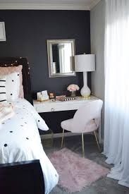 office space in bedroom. I Found The Perfect White Desk At HomeGoods To Fit In Space Between My Bed And Wall. This Would Traditionally Be Where You Place A Nightstand. Office Bedroom