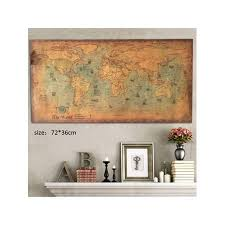 Topumt Vintage World Map Home Decor Nautical Poster Wall Chart Kraft Paper Painting Retro New