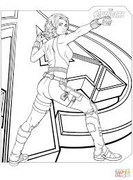Small Picture Avengers Black Widow coloring page Free Printable Coloring Pages
