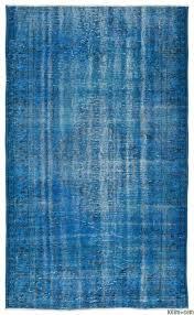 turquoise over dyed turkish vintage rug 4 8 x 7
