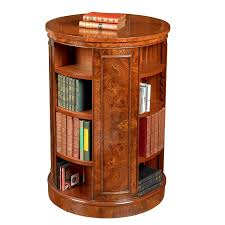 Bookcase Table Tall Revolving Elm Round Bookcase Bookcases Cabinets
