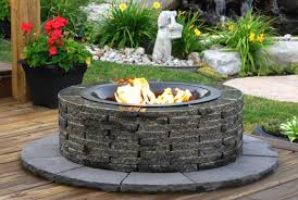 stay warm and cozy with a realstone granite fire pit