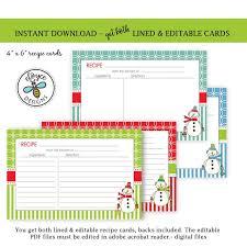 Printable Christmas Recipe Cards Free Printable Christmas Recipe Card Free Coloring Pages