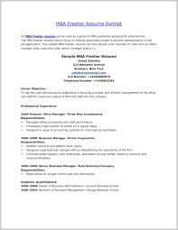 Best Resume Format For Mba Freshers Staggering Templates Download