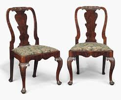 A Pair Of George I Walnut Side Chairs. Early 18th Century. 37½ In (