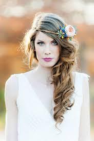 Coiffure Simple Mariage Idées Avec Cheveux Sur Le Côté Et