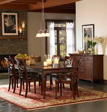 aspenhome cambridge 7pc formal dining room set in brown cherry icbdr