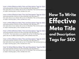 How To Write Page Titles And Meta Descriptions For Seo Updated May