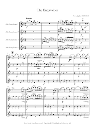 Print and download 'the entertainer' from. Scott Joplin The Entertainer Sheet Music For Alto Sax Quartet 8notes Com