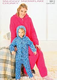 Adult Onesie Pattern Unique 48 SIRDAR SNUGGLY SNOWFLAKE CHUNKY ONESIE KNITTING PATTERN TO