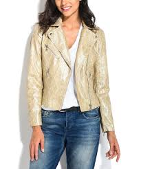 all gone gold snake embossed faux leather moto jacket