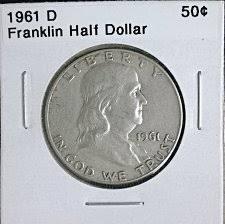 1961 Half Dollar Value Chart 1961 D Franklin Half Dollar Liberty Bell Coin Value Prices