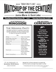 Fun Wedding Programs Creative Wedding Programs Unique Wedding Program Designer