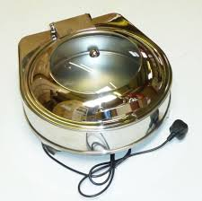 display electric chafing dish round soft close lid cb729 bachafer rou
