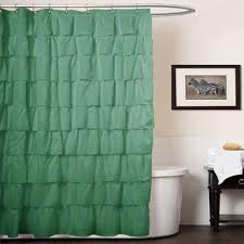 dark teal shower curtain. dark forest green gypsy ruffle shower curtain bohemian ruffled pattern layered overlapping ruffles gypsies hippie themed teal a