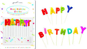 <b>Свеча</b>-<b>буква PROCOS для</b> торта Happy Birthday - Party Essentials