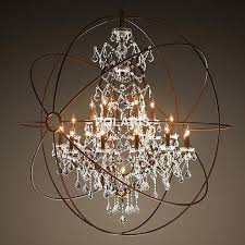 rustic crystal chandelier modern vintage orb crystal chandelier lighting rustic candle chandeliers led pendant hanging light