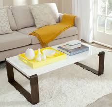 White Lacquer Coffee Table Fox4210a Coffee Tables Furniture By Safavieh