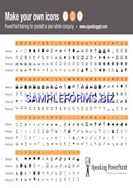 Wingdings Webdings Character Map Pdf Free 1 Pages