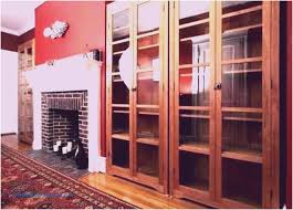 21 collection black bookcase with glass doors