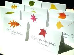 Table Name Cards Assorted Fall Tree Place Corresponding To A Leaf